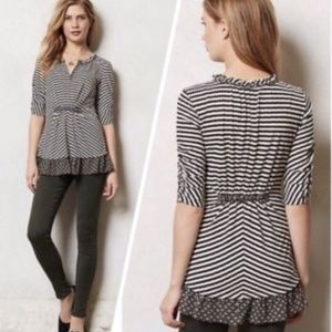 Anthropologie One September Galicia Pullover Top